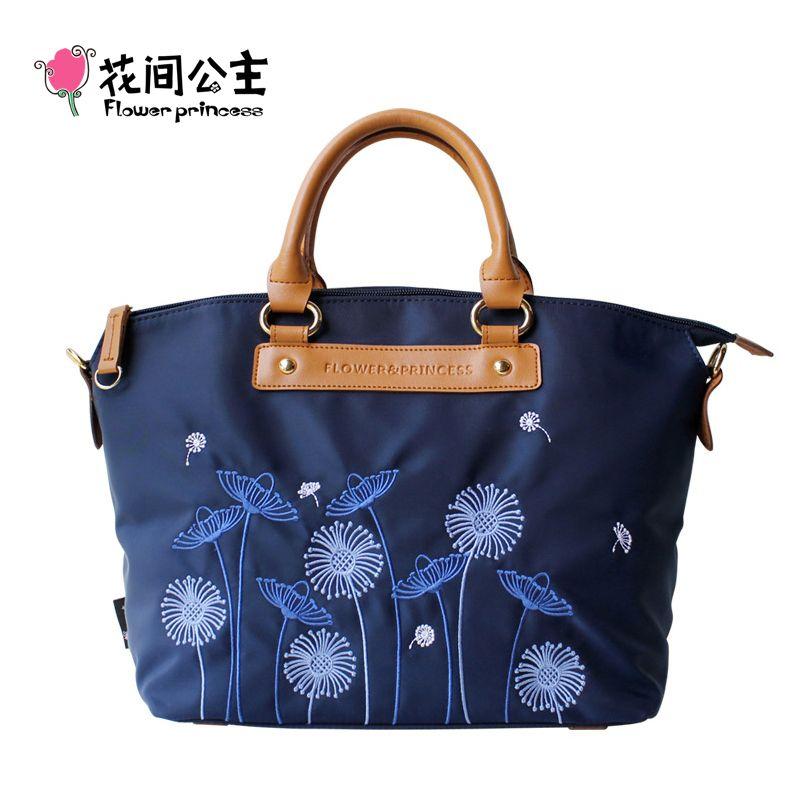 Fleur princesse marque femmes haut tendance-poignée sac à main dames mode pissenlit motif broderie épaule sac à bandoulière X006