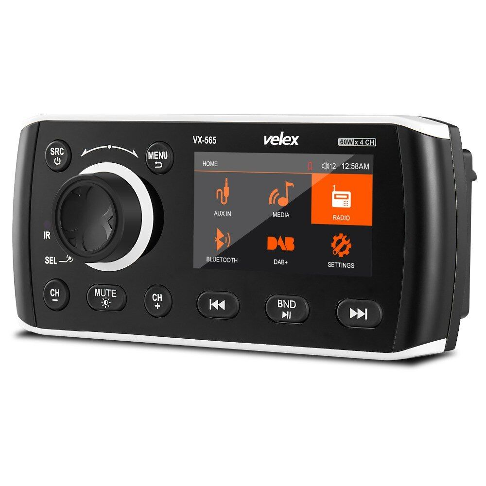 Marine Stereo, Media Center, Bluetooth Verstärker, Radio DAB +/AM/FM tuner, 50 W X 4 kanäle für Boot, UTV, ATV, Spa, Heißer Rohre