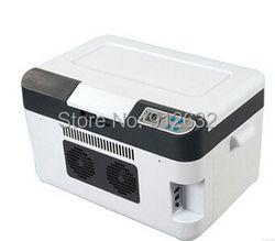Venta caliente 25L doble uso del refrigerador del coche frío/calor mini refrigerador, congelador, -3 ~-5 grados bajo cero, calefacción 65 grados