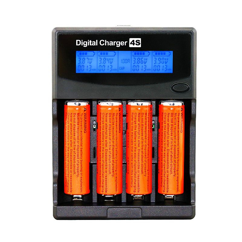 Test Battery Capacity Lcd 3.7v/1.2v Aa/aaa 18650/26650/16340/14500/10440/18500 Battery Charger With Screen+12v2a Adapter 5v1a