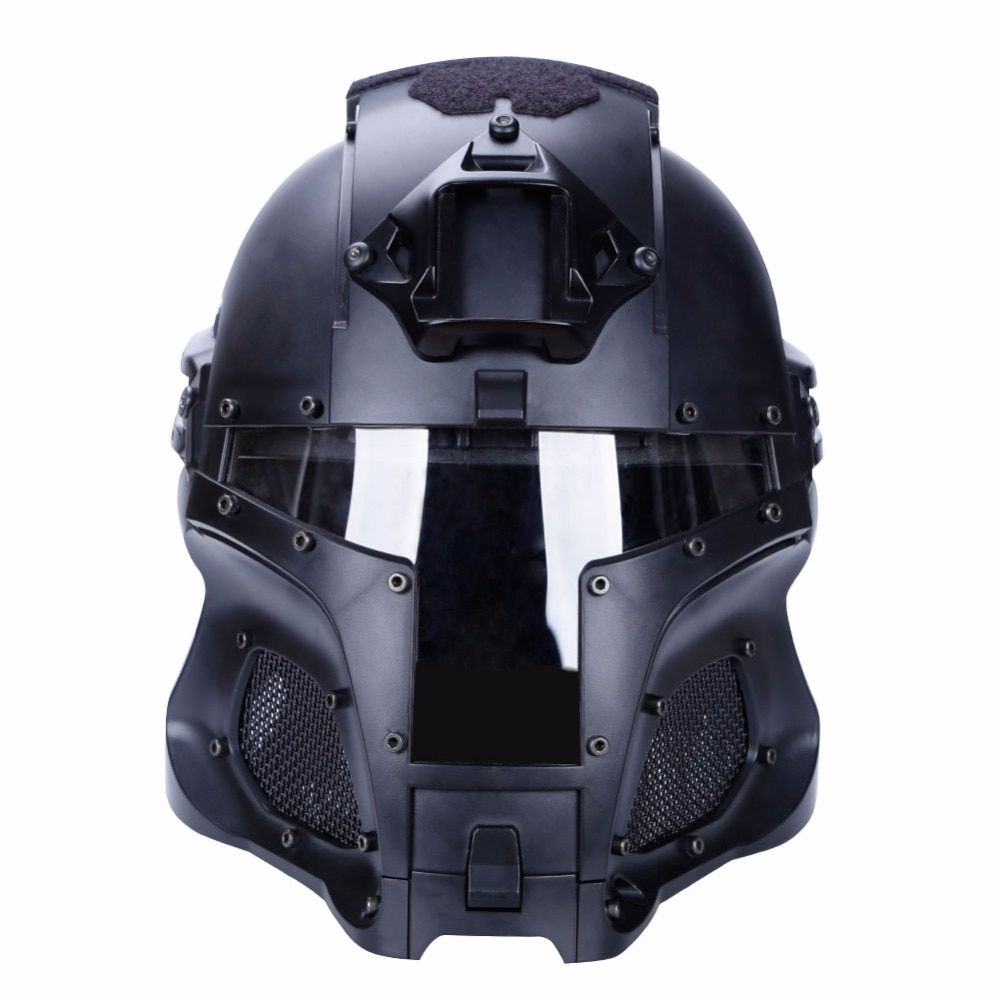 WoSporT 2018 Tactical Military Ballistic Helmet Side Rail NVG Shroud Transfer Base Outdoor Sports Army Combat Airsoft Paintball