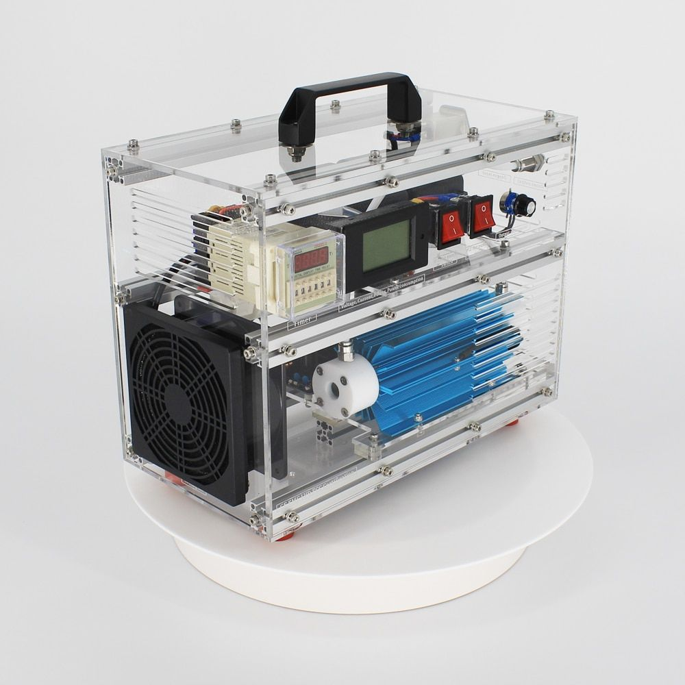 Pinuslongaeva BO-1030QY 0-10g/h 10gram adjustable acrylic shell ozone generator disinfection machine for air or water