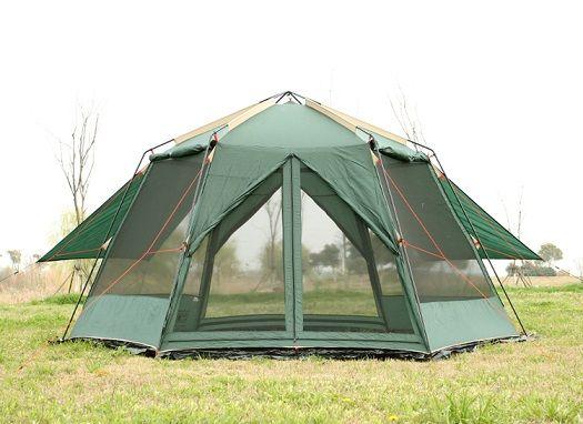 UV hexagonal Outdoor camping wild big tent camping tent camping 8-12 double rainproof mosquito tent awning garden pergola