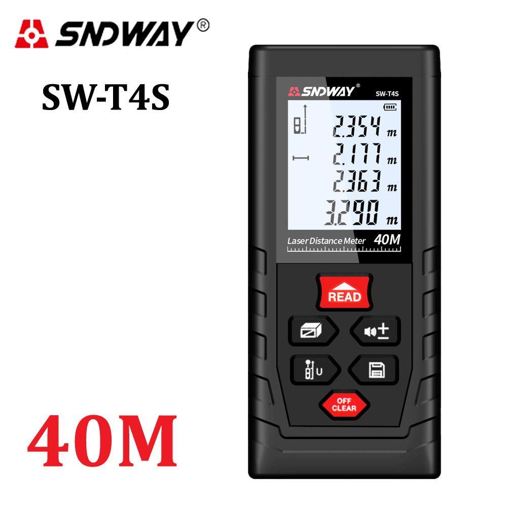 SNDWAY Laser Distance Meter 40m Laser Rangefinder Trena Laser <font><b>Tape</b></font> Measure Distance Range Finder ruler Diastimeter Roulette Tool