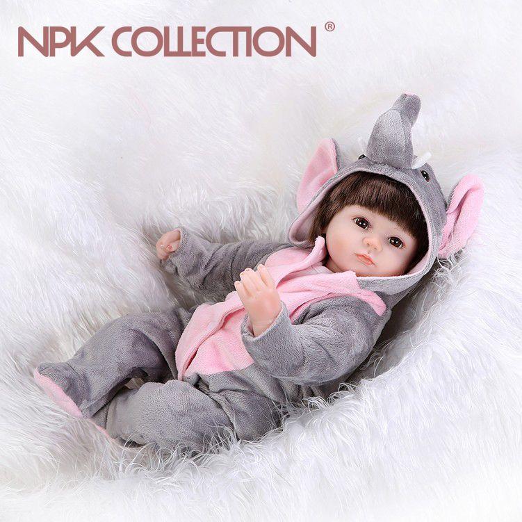 NPKCOLLECTION hot toys lifelike reborn baby doll wholesale boneca reborn silicone doll Christamas Gift newborn baby doll