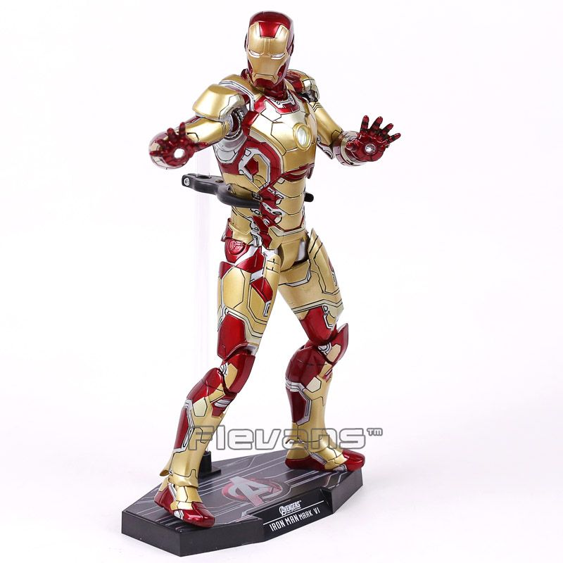 Hot Toys Iron Man Mark XLII MK42 with LED Light 1/6th Scale Collectible Figure Model Toy