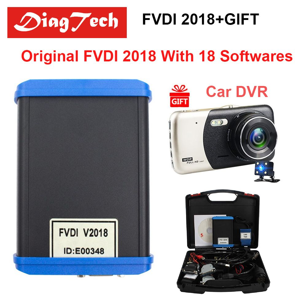 Original FVDI 2018 ABRITES Commander Diagnostic Tool Full Version (18 Softwares) No Limited Covers FVDI 2014 2015 2016 + Car DVR