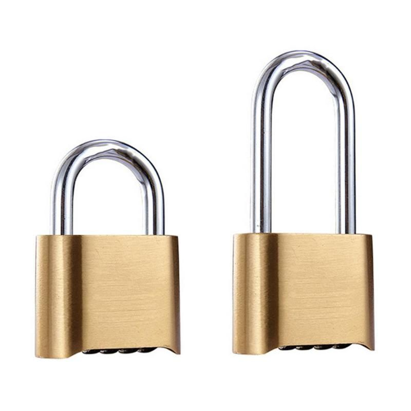 70/105mm cadenas en laiton étanche à quatre chiffres combinaison mot de passe inférieur serrure en cuivre serrure en acier inoxydable