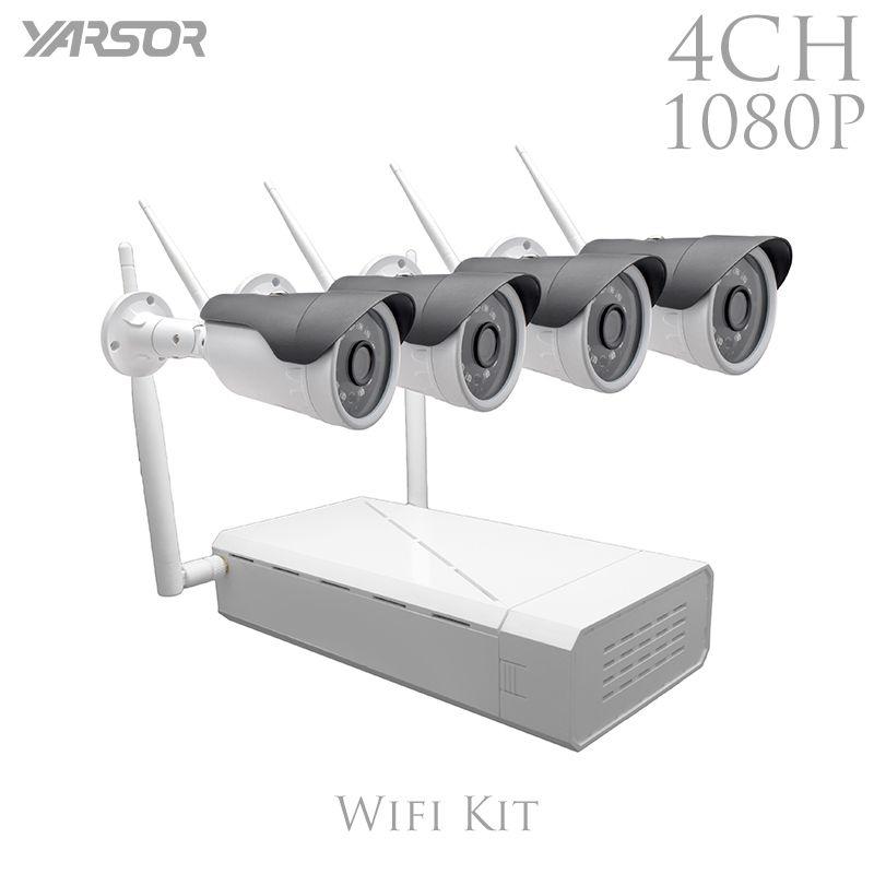 FL-WF-IP4200A 4CH IP Wifi NVR Kit 1080P Wireless Video Surveillance System 2.0MP Onvif P2P Wifi IP Camera Outdoor Infrared
