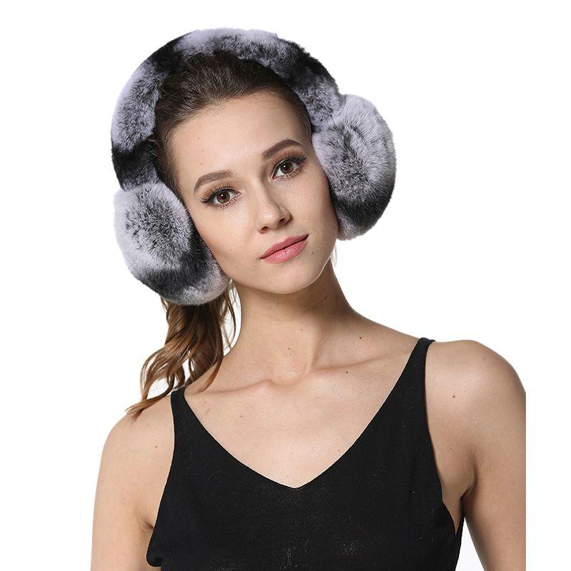 2017 New High Quality Unisex Real Rex Rabbit Fur Earmuffs Womens Real Fur Ear Warmer Winter Kids Warm Earmuffs LX00774
