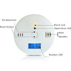 المنزل الأمن تحذير 85db عالية الحساسية lcd الكهروضوئية المستقلة التسمم استشعار غاز أول أكسيد الكربون co إنذار الكاشف