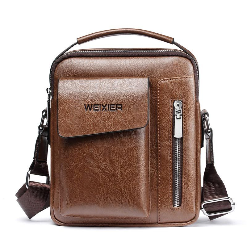 Hommes sac 2019 nouvelle mode angleterre style bandoulière en cuir messenger sac hommes décontracté épaule hommes sacs zipper homme sacs à main