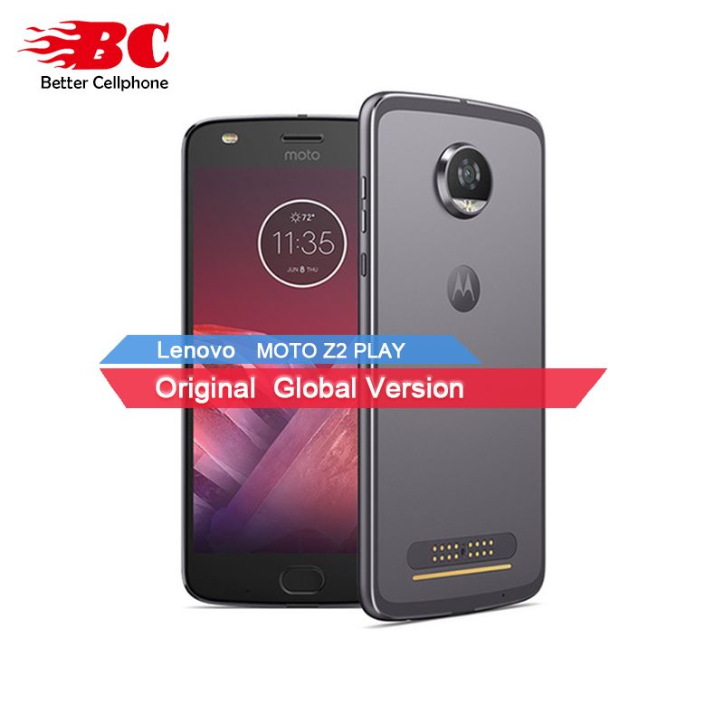 New Motorola MOTO Z2 <font><b>PLAY</b></font> xt1710 4GB RAM 64GB ROM 4G LTE 5.5 12MP Octa Core Android7.1 Dual SIM 1920x1080 Mobile Phone Add Mods