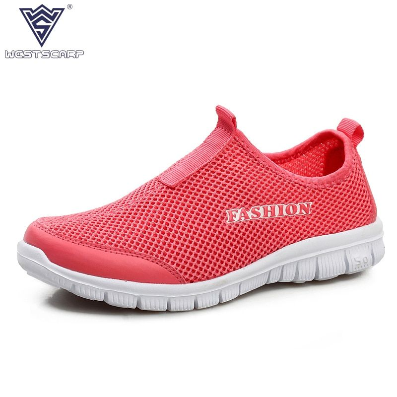WEST SCARP Women Shoes Summer Casual Shoes Woman , Slip On Breathable Air Mesh Sapato Feminino Size 35-41