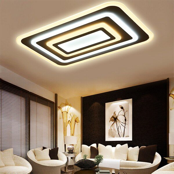 LED Modern Ceiling Lights Ceiling Lamp Remote Control Dimmable Acrylic Decorative For Living Room Bedroom 9032