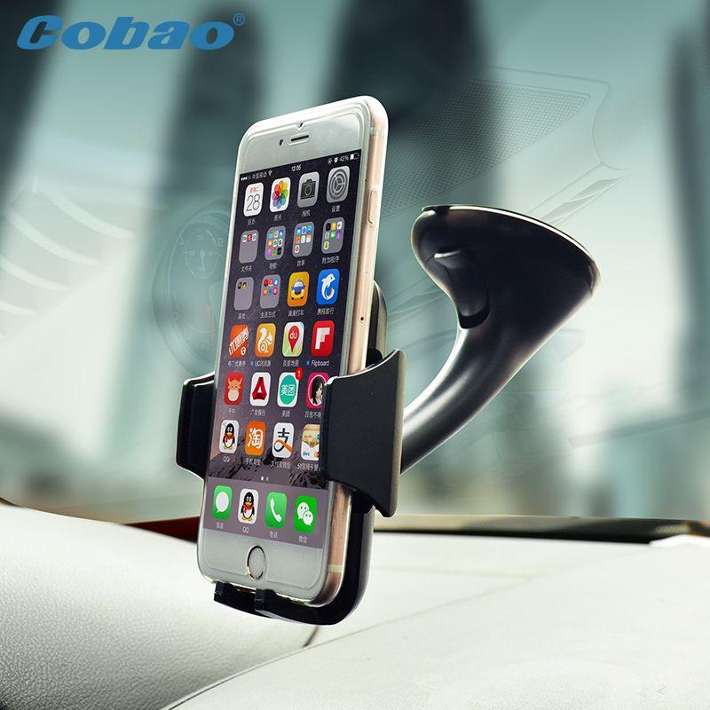 Universal mobile téléphone support de voiture pare-brise à vide mount holder stand pour téléphone smartIphone 5S 6 6 s galaxy s4 s5 s6 Note3 4 5