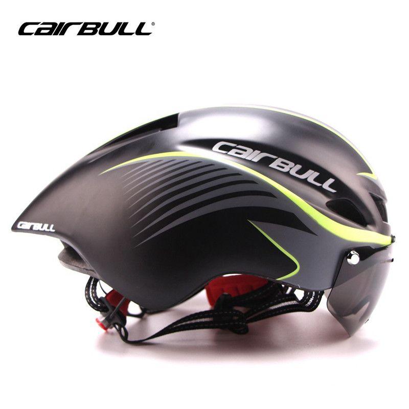 CAIRBULL Aero TT Goggles Bike Helmet Road Cycling Outdoor Sport Safety Helmet Bicycle Racing Ultralight Integrally-Molded Helmet