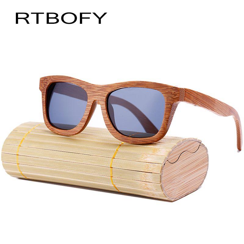 RTBOFY nouvelle mode 100% fait à la main bambou rétro bois lunettes DE soleil femmes et hommes conception mignonne Gafas DE sol cool lunettes DE soleil. ZA03