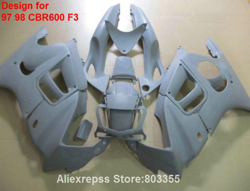 Für HONDACBR 600 F3 1998 1997 97 98 Verkleidungen (Kostenlose anpassen) cbr 600 verkleidung kit + 7 geschenke xl95