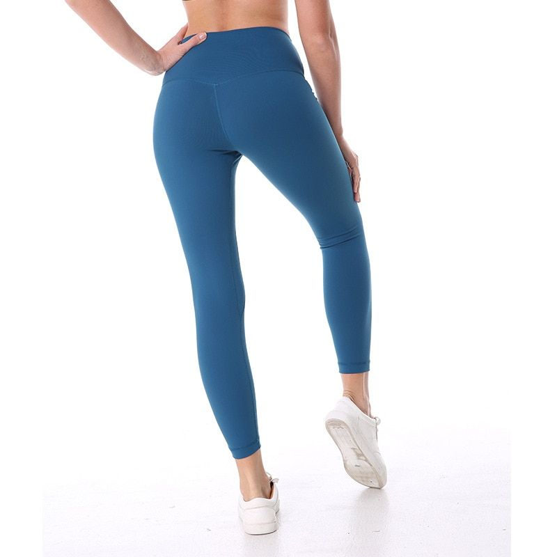 NWT Eshtanga Sports tight Top Quality WomenYoga High Elastic Waist Solid Skinny 4-way Stretch Leggings Size XXS-XL