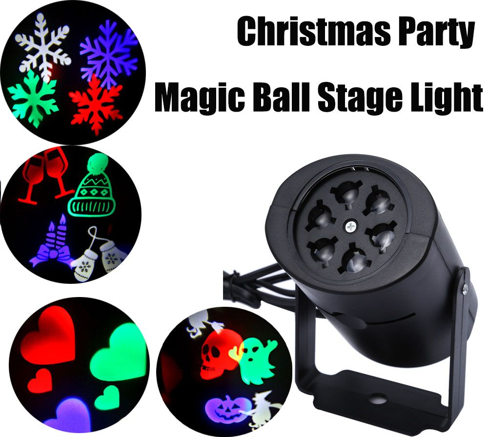 LED Stage Light Laser Projector Lamps Heart Snow Spider Bat Christmas Party Landscape Light Garden Lamp Outdoor Lighting