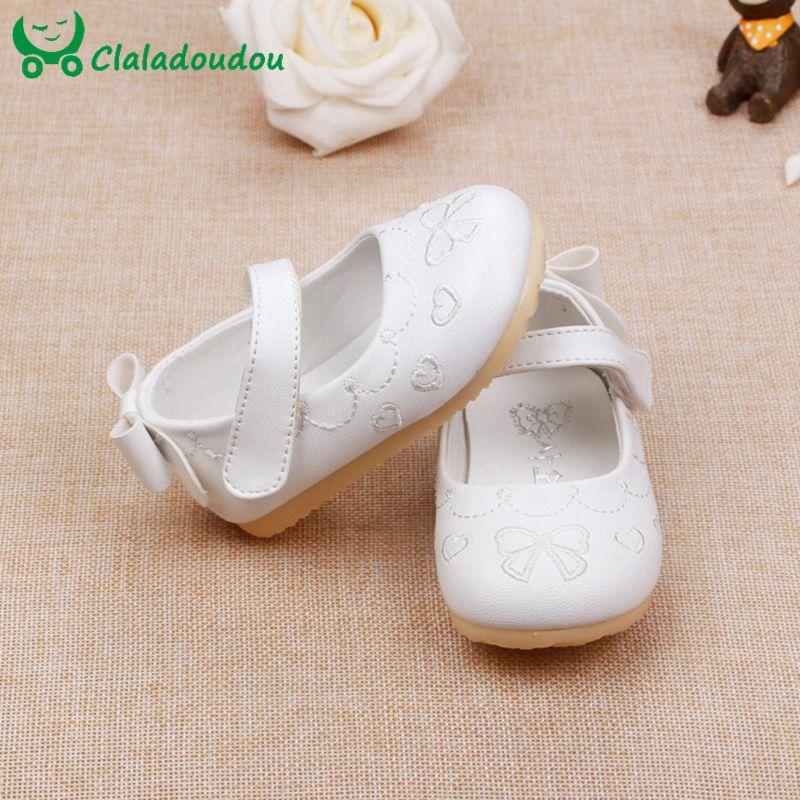 Детская обувь для девочек мягкая подошва бантом симпатичное платье принцессы обувь для вечеринок из искусственной кожи в Корейском стиле д...