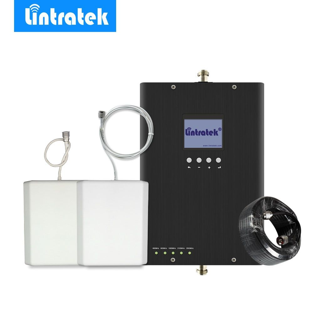 Lintratek 2G 3G 4G Cell Phone Signal Booster Repeater Amplifier E900MHz 3G 2100MH 4G LTE 800/1800/2600MHz Multi-band for Europe*