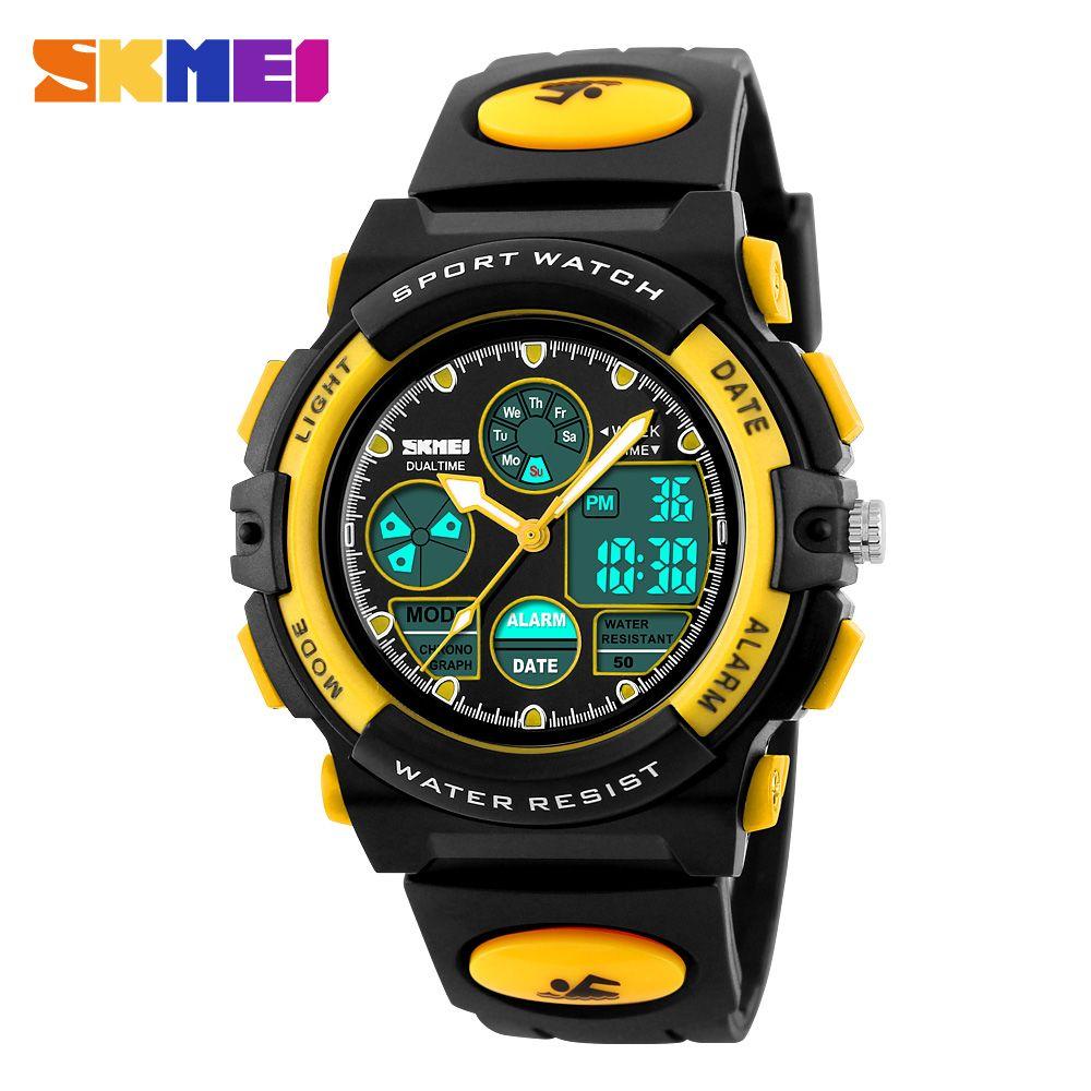Skmei niños reloj moda casual impermeable multifunción digital Quartz Relojes deportivos para Niños Niñas estudiantes Relojes