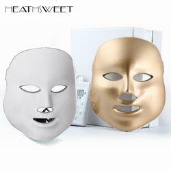 Healthsweet 3 Warna Cahaya PDT Photodynamic DIPIMPIN Masker Wajah Rumah Menggunakan Alat Kecantikan Anti Jerawat Peremajaan kulit Masker Terapi