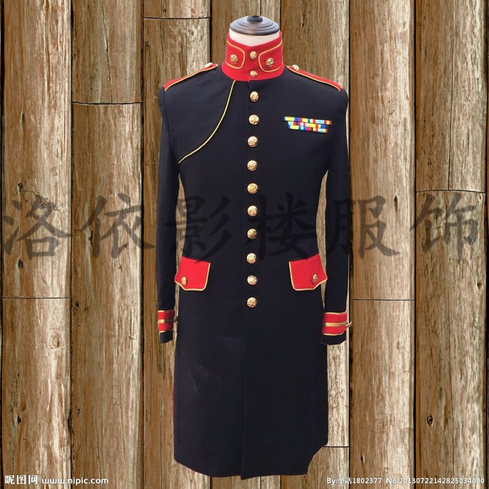Herren bühne leistung rot schwarz goldene stickerei tuxedo langen jacke bühne tragen/singen/bar/event, nur jacke