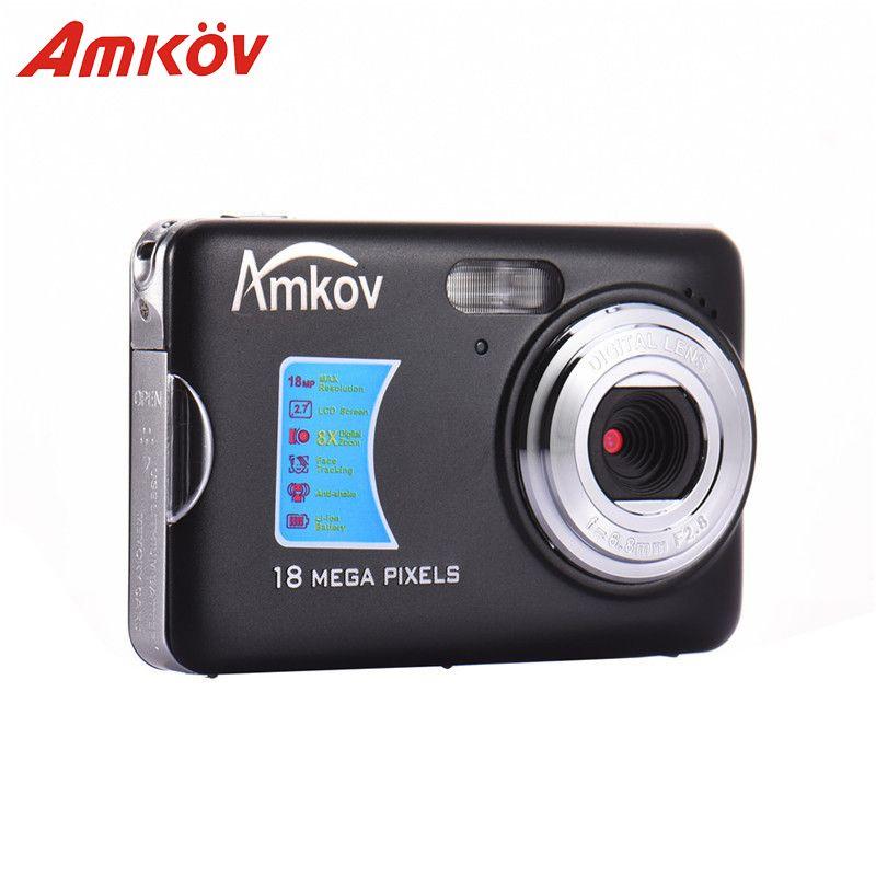 Amkov AMK-CDFE Professional Camera 8mp 2.7 Inch Aluminum + plastic Support multi-Language Mini Portable HD Camera Digital Camera
