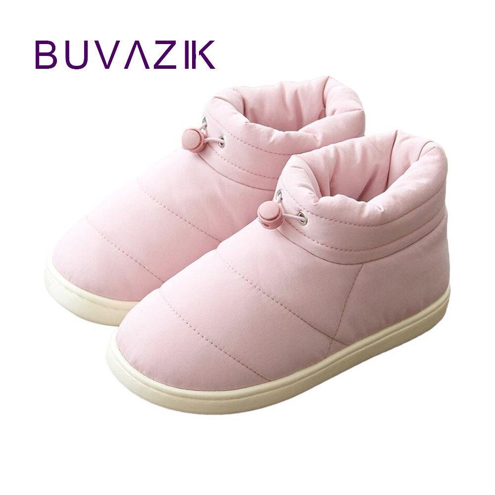 2018 femmes bottes de neige imperméable calzado mujer hiver sapato feminino femmes bottines chaudes chaussures d'extérieur couleurs mélangées