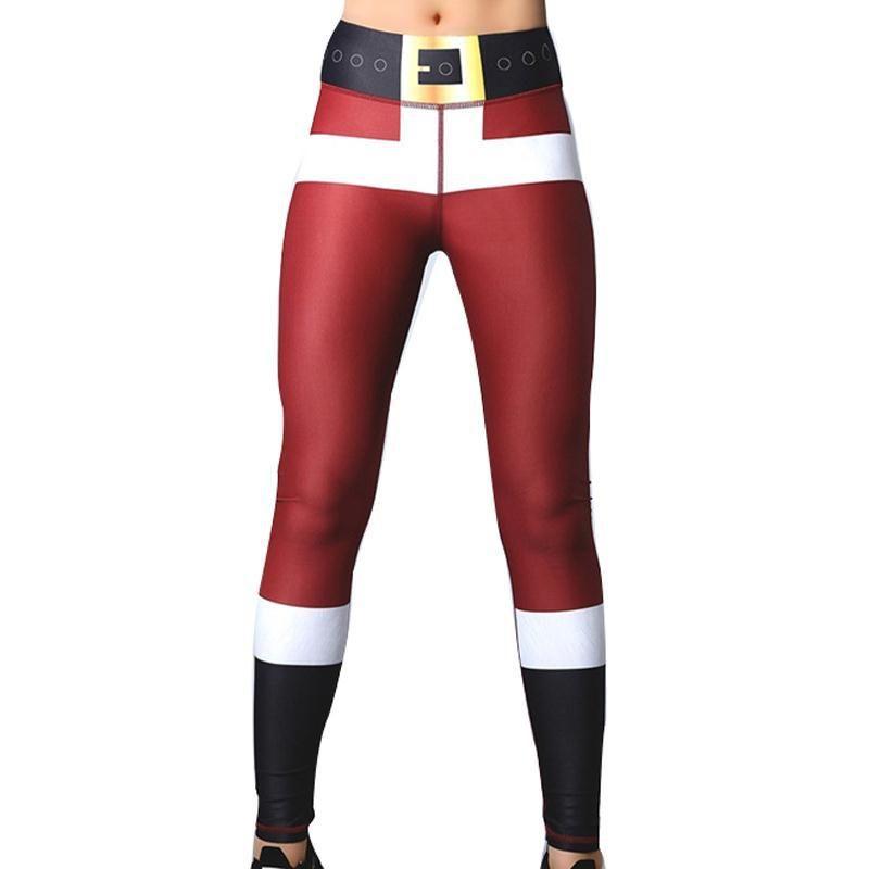 2018 De Noël Impression Leggings Mis Hanche Élastique Taille Haute Legging Pas Transparent Respirant Joyeux Noël Pantalon