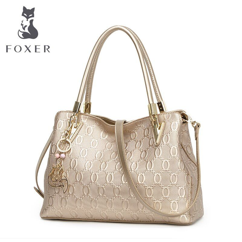 FOXER Women Cow Leather Shoulder & Crossbody bags New Design Handbag Fashion Tote Female Handbag all-match Women's Purse