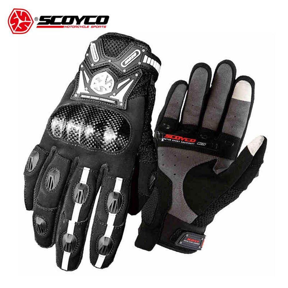 SCOYCO männer Motorrad Motocross Handschuhe Off-Road Racing Handschuhe Kohlefaser Schutz Shell Motorrad Moto Handschuhe Luvas