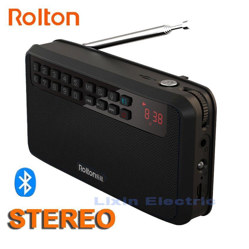 Rolton E500 haut-parleur Bluetooth stéréo Portable sans fil caisson de basses musique boîte de son mains libres haut-parleurs FM Radio et lampe de poche