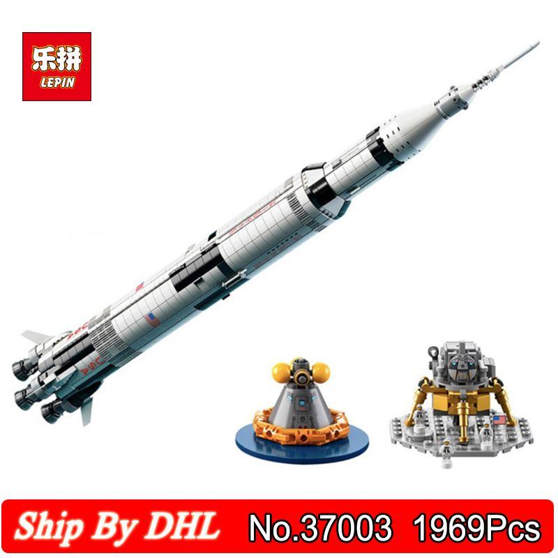 Lepin 37003 USA The Apollo Saturn V Launch Vehicle 1969Pcs Blocks Bricks Children Education Toy Compatible Legoingly 21309