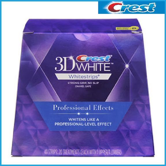 Crest 3d white teeth Whitestrips Professional effect 1 box 20 Pouches Original Oral Hygiene Teeth Whitening <font><b>strips</b></font>
