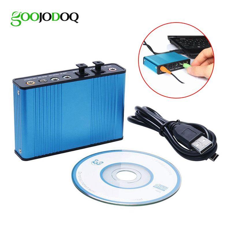 GOOJODOQ professionnel USB carte son 6 canaux 5.1 optique externe convertisseur de carte Audio CM6206 Chipset pour ordinateur portable de bureau