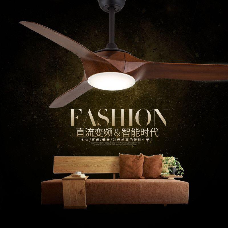 DC Ceiling Fan lights Simple Modern Cafe Restaurant Fan Lamp Nordic Living Room Remote Control LED Fan Light Free Shipping