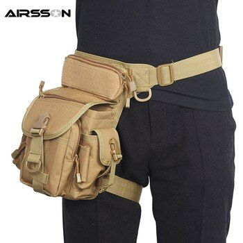 Tactical Thigh Leg Bag With Water Bottle Pouch Nylon Waist Pack Outdoor Military Hunting Camping Climbing Sport Bags