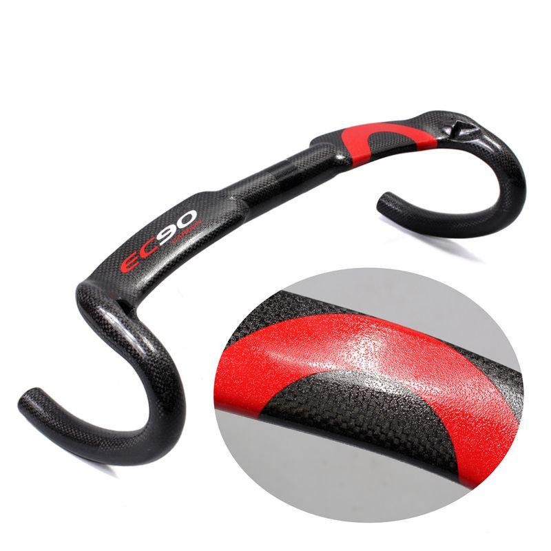 Carbon full handlebar bent bar carbon fiber road bike handlebar 3K gloss finish 40/42/44 cm internal cable routing