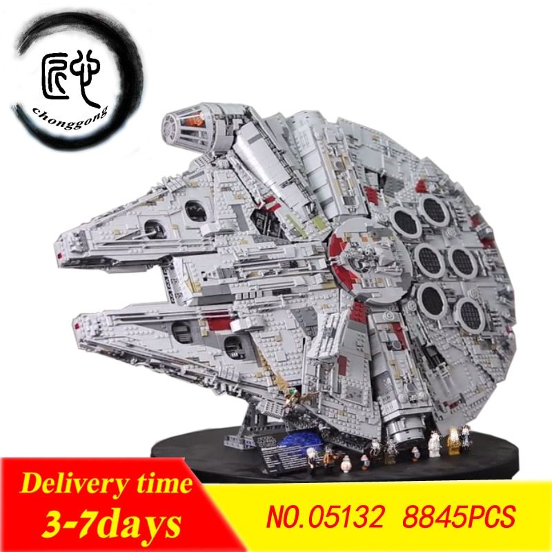 new Star Wars Building Blocks Force Awakens Millennium Set Falcon Model fit Legoings 75192 Toys Kid Christmas Gift