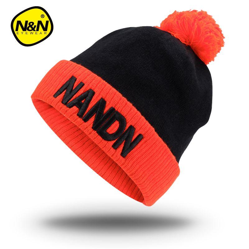 NANDN Automne hiver chapeau unisexe tricoté Skulliesl exécuter un bonnet ski cap
