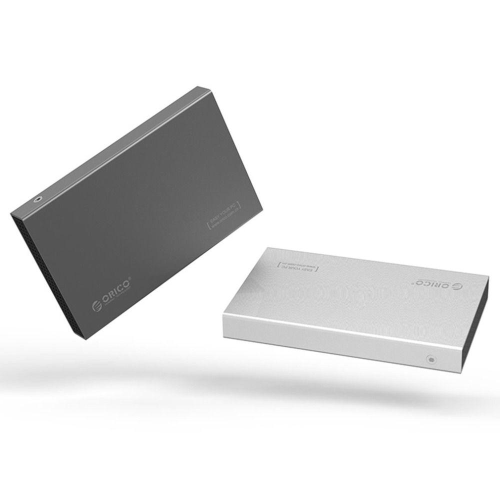ORICO 2518C3 2,5-zoll Aluminium Legierung Typ-C Externe Festplatte Gehäuse USB3.1 Gen1 5 Gbps Unterstützung 7mm & 9,5mm Mobile HDD