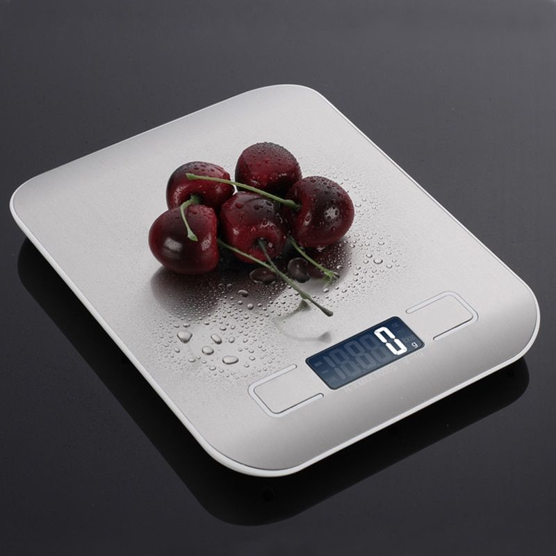 Household Kitchen scale 5Kg/10kg 1g Food Diet Postal Scales balance Measuring tool Slim LCD Digital Electronic Weighing scale