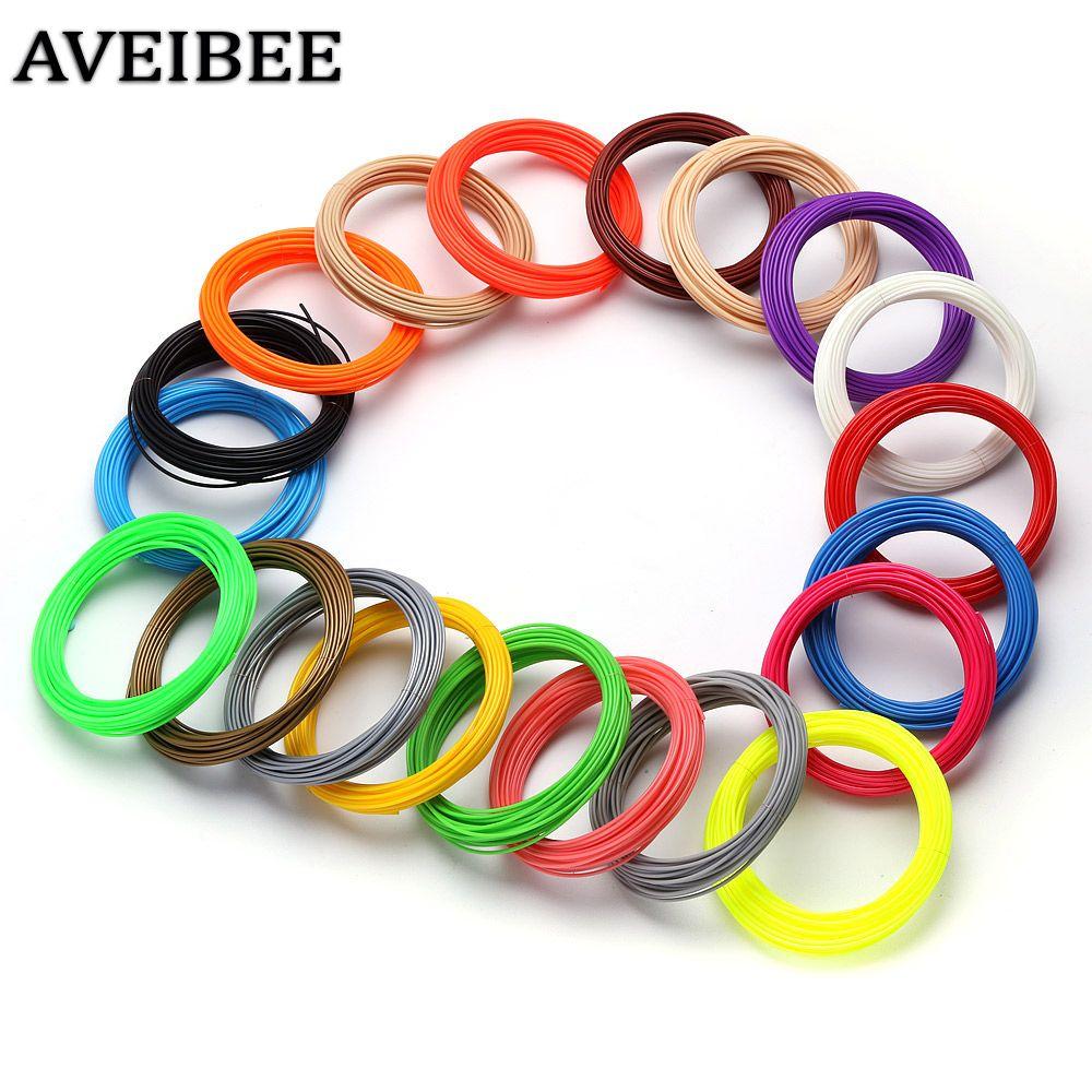 200 м 20 Цвет и 100 м 10 Цвет 1.75 мм ABS нити 3 D Материал для 3D печать Ручка темы Пластик расходные материалы для принтера
