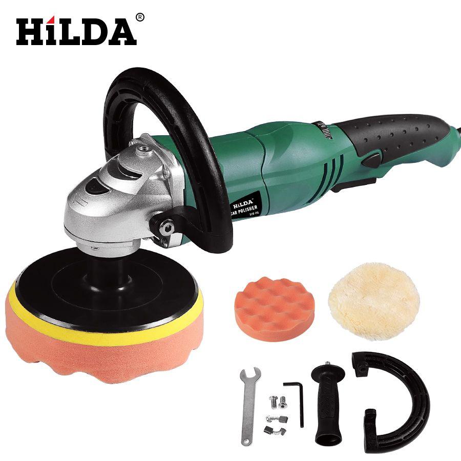 HILDA Car Polisher 1200W Variable Speed 3500rpm 150mm Car Paint Care Tool Polishing Machine Sander M14 Electric Floor Polisher