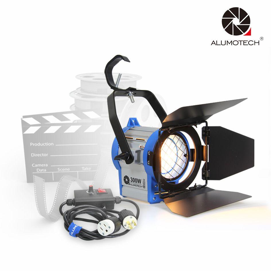 ALUMOTECH Dimmer+300W As ARRI Fresnel Tungsten Spotlight Lighting Video Studio + Bulb camera