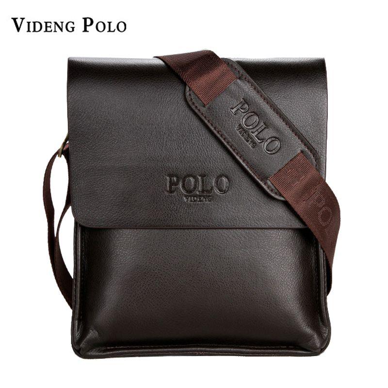 VIDENG POLO Famous Brand <font><b>Leather</b></font> Men Bag Casual Business Messenger Bag For Vintage Men's Crossbody Bag Male Shoulder Bags bolsas